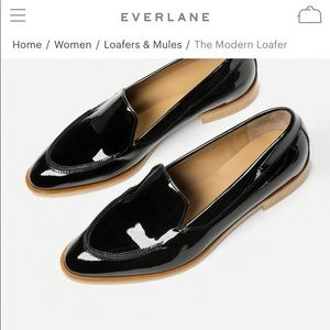 Everlane patent loafers 6.5
